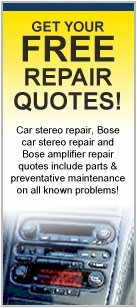 Free Car Stereo Repair Quotes