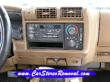 Chevrolet Blazer DIY Factory Car Stereo and Speaker Removal