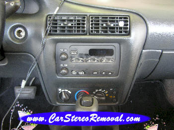 Chevrolet Cavalier DIY Factory Car Stereo and Speaker Removal