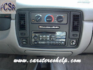 Chevrolet Caprice Classic Bose Silver DIY Factory Car Stereo and Speaker Removal