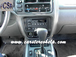 Chevrolet Tracker DIY Factory Car Stereo and Speaker Removal