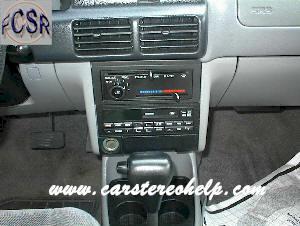 1999 ford escort radio removal