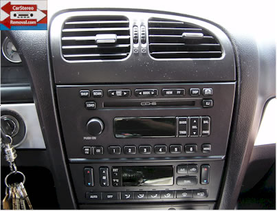ford five hundred stereo removal
