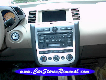 How to Remove Nissan Murano Car Radio Instruction Guide