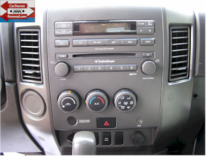 Nissan Titan How to Remove Car Radio